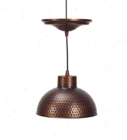 Scres-in Antique Hammerrd Copper Pendat Lighting With Adjustable Cord