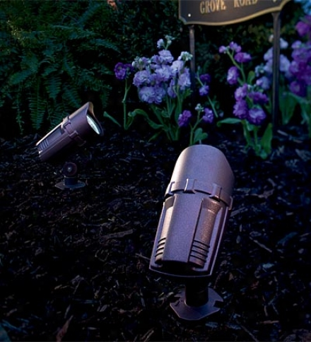 Set Of 2 Extra-bright Solar Spot Lights With 9 Led Lights