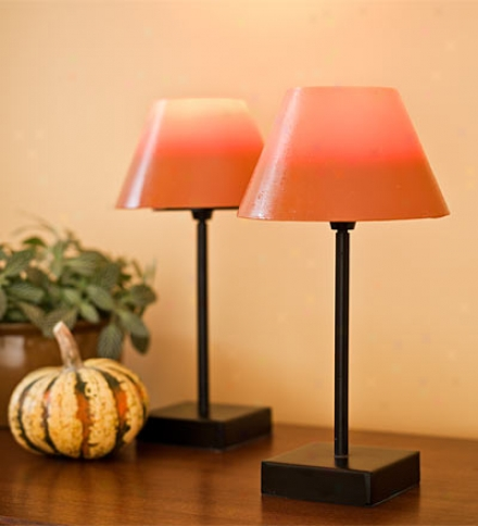 Set Of 2 Increase  Candle Lamps
