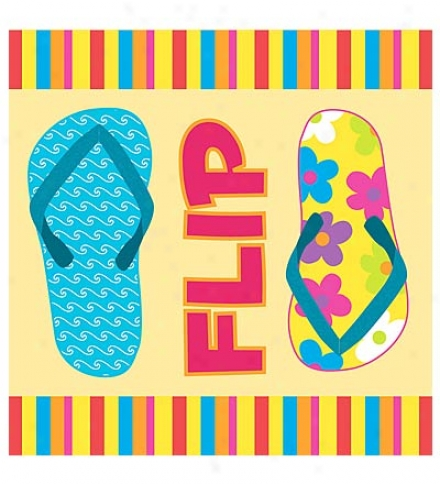 Set Of 20 Flip Flop Cocktail Napkins