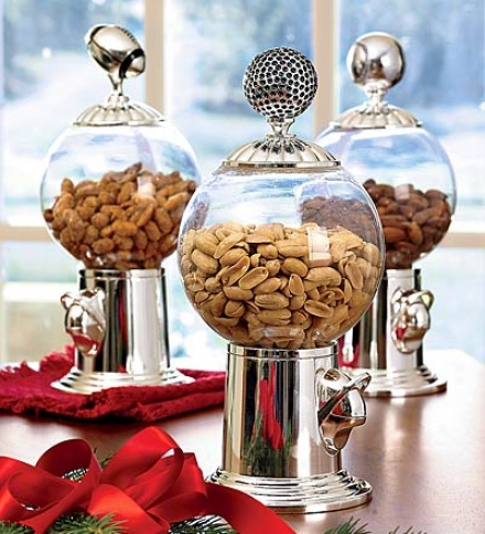 Set Of 3 Decora5ive Snack Dispenser Finials In Silverplate