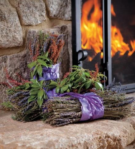 Set Of 3 Fragrant Lavender And Andromeda Hearth Bundles