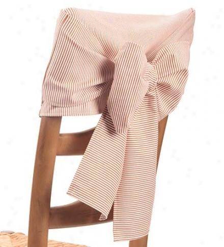 Set Of 4 Cotton Striped Chair Sash Bows