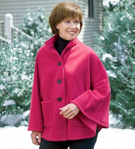 Short Velour Polartec&amp;#174; Fleece Cape