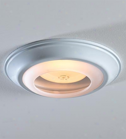 Simple White Decorative Recessed Light Cap Ring Home And