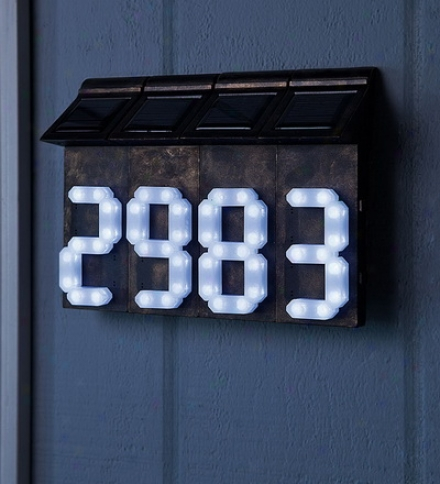 Single Solar House Address Number Buy 2 Or More At $12.95 Each