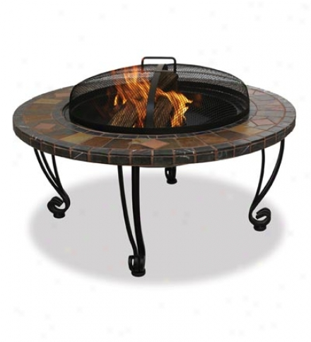 Slate And Copper Fire Bowl