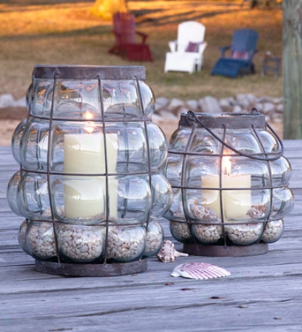 Small Bubble Glass Lantern