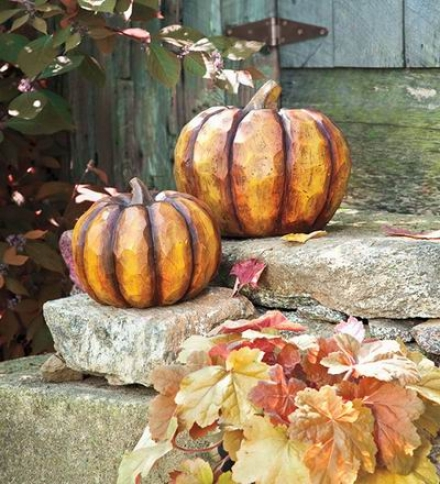 Small Decorative Resin Pumpkin