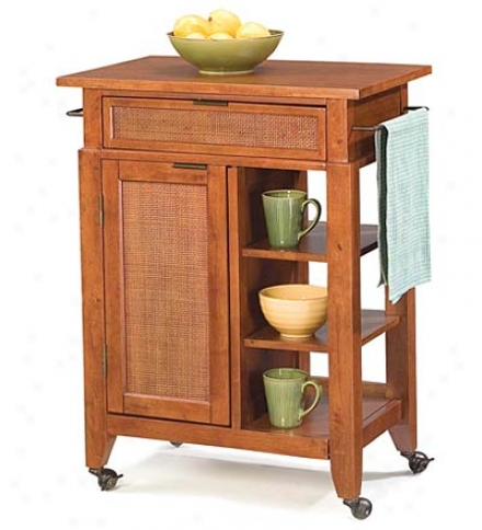 Small Jamaican Bay Kitchen Cart