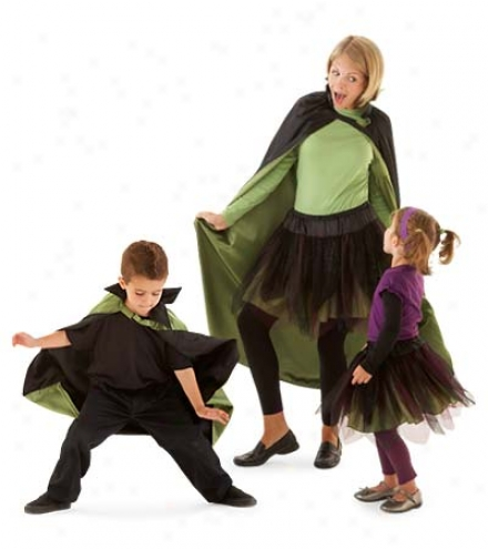 Mean Monster Mash Costume Skirt With Layered Netting And Adjustable Waistband