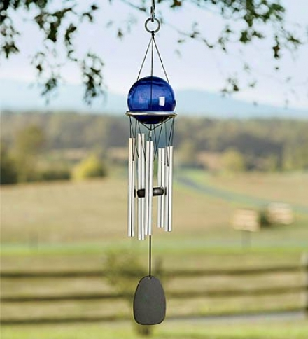 Small Reflective Gazing Ball Wind Set of ~d bells