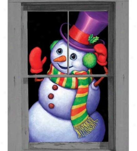 Snappy The Snowman Window Poster