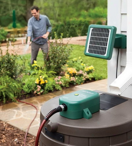 Solar Powerer Rain BarrelW ater Pump