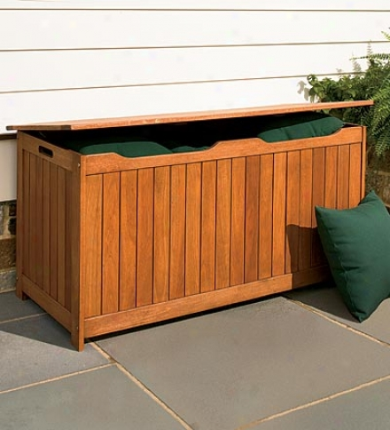 Solid Eucalyptus Outdoor Storage Box