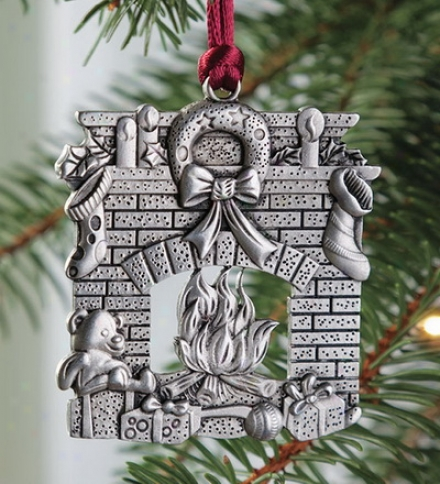 Solid Pewter Fireplace Ornament