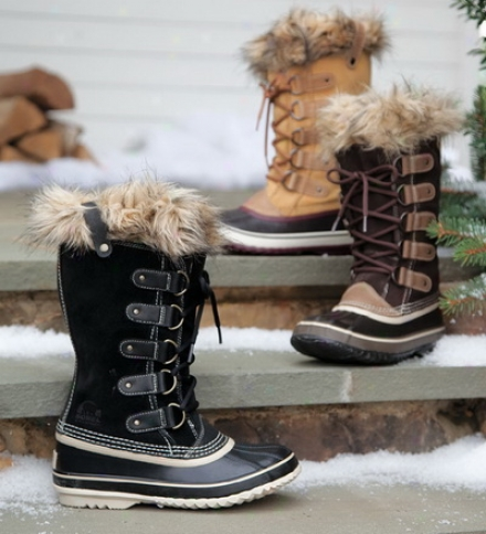 Sorel Joan Of Artic Boots With Faux Fur Snow Cuff Tops