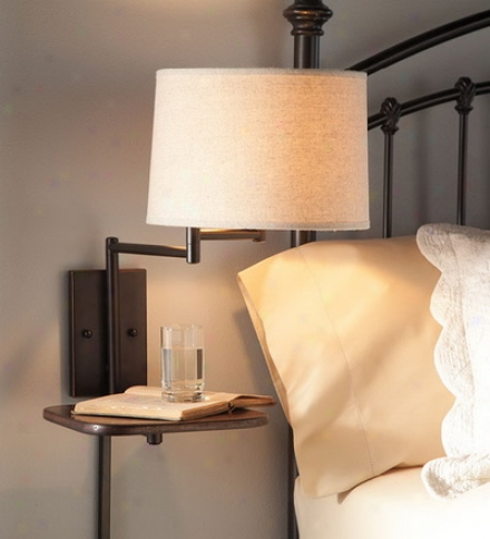 Space-saving Wall Mount Lamp With Table