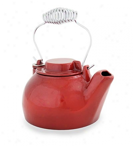 Speckled Porcelain S5eamer Kettle