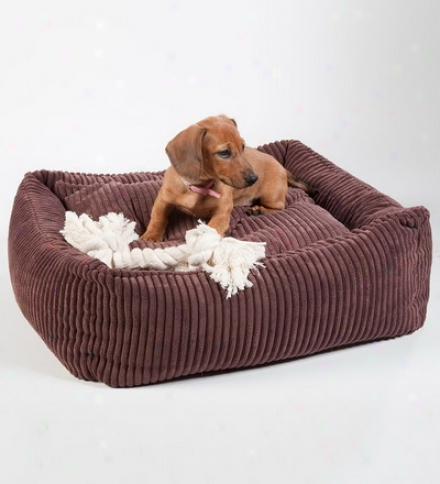 "Square Bold Corduuroy 24"" Pet Bed"