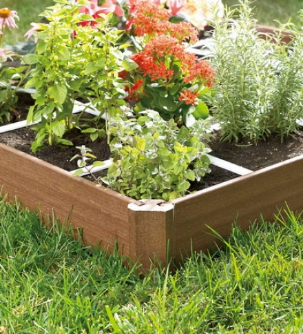 Square Foot Grid Raised Bed Garden Kit