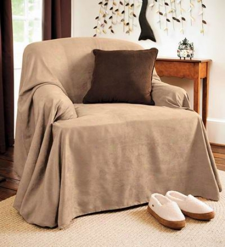 Stain-resistant Polyester Suede Sofa Cover