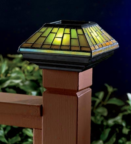 Stained Glass Solar Cap Lightbuy 3 Or More At $34.95 Reaped ground