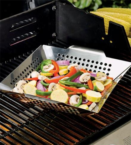 Stainless Steel Veggie Grilling Wok