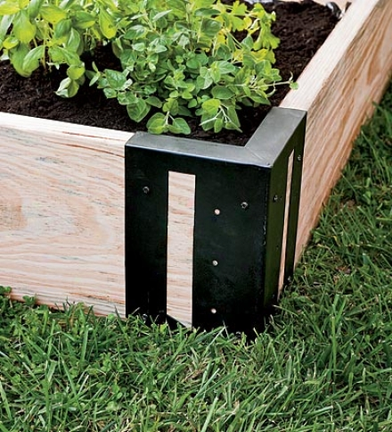 "Steel Raised Garden Bed Braciwts With Hummingbird Cutouts, Set Of 46""l X 6""w X 10-1/2""d"