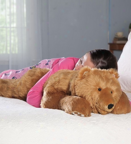 Super-soft Bear Hug Body Pillow With Realistic Features