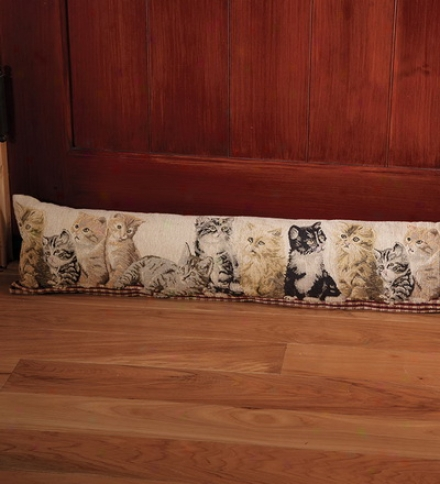Tapestry Draftstopper In Kitten Or Puppy Design