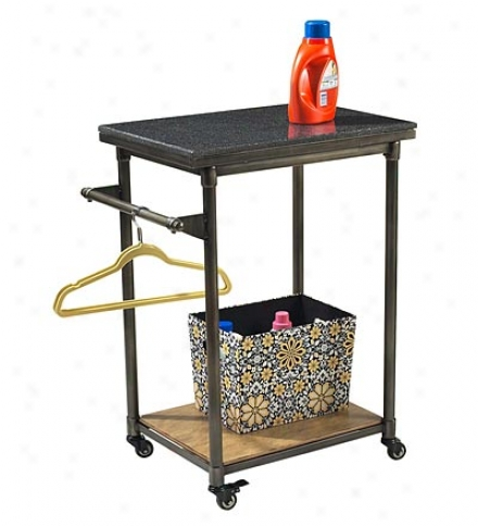 Thornhill  Small Kitcheb And Laundry Cart With Granite Top