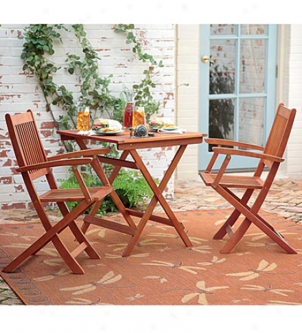Three-piece Eucalyptus Bistro Set