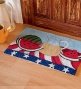 "20""w X 30""l Hand-hooked Washable Summer Picnic Rug"