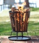 Compact Iron Basket-style Fire Pit