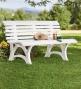 "German-made, Weatherproof Resin Garden Bench59"" X 26-1/2"" X 31-1/2""h"