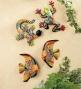 "Hand-pained Ceramic Tqlavera Fish Wall Piaques, Set Of 211-1/2""l X 8&""w"