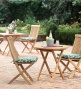 Plantation-grown Solid Teak Outdoor Folding Bistro Set, Square Table And 2 Side Chairssqve $29.95 On The Set!