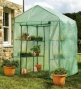 Portable Steel-framed Greenhouse Upon Reinforced Mesh Cover And 6 Shelves