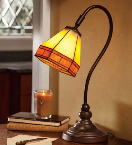 Tiffany-style Stained Glass Missoon Style Desk Lamp
