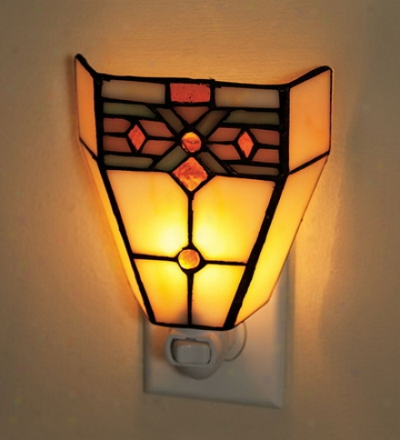 Tiffany-style Stained Glass Mission Style Night Lightbuy 2 Or More At $14.95 Each