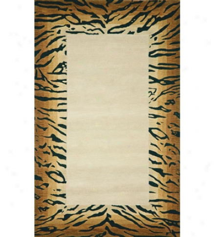 "Tiger Border Rug Runner, 27""w X 8'l"