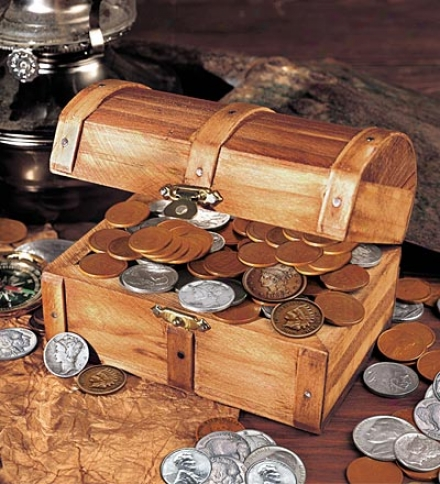 Tteasure Chest Of 51 Historic Coins