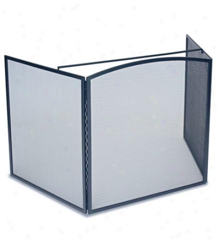Tri-folding Mesh Stove Guard With Locking Panels