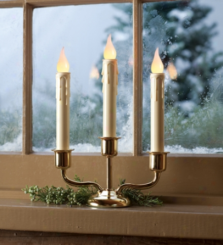 Triple Cordless Window Candle