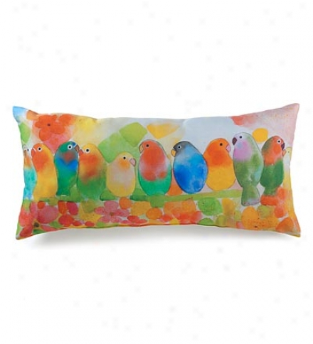 Tropical Birds Photo-printedd Throw Pillow