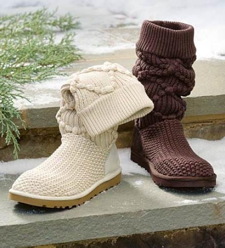 Ugg® Australia Women's Argyle Crocheted Boots
