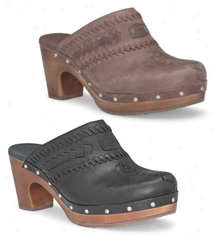 Ugg® Australia Women's Leather Vivica Clogs With Wooden Outsoles
