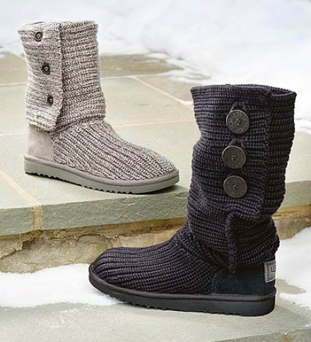 Ugg® Australia Women's Soft-knit Cardy Boot With Button Accents