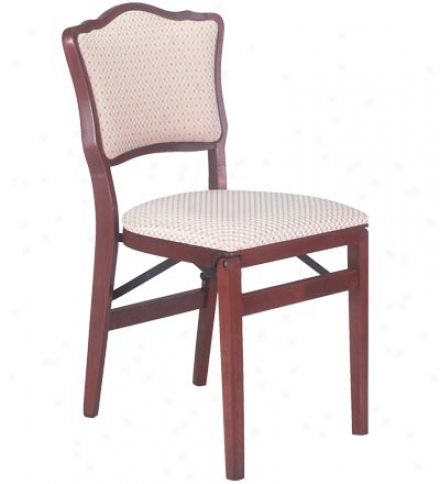 Upholstered Back Folding Chair,, Set Of 2